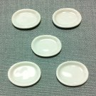 5 Plates Tiny Dishes Oval White Ceramic Miniature Dollhouse Decoration Jewelry Hand Painted Supply