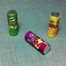 3 Boxes Packets Packs Food Metal Snacks Crackers Pringles Miniature Dollhouse Jewelry Decoration