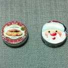 2 Boxes Packets Cookies Biscuits Metal Tin Food Miniature Dollhouse Jewelry Decoration