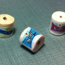 3 Rolls Packets Packs Paper Tissue Toilet Hand Made Miniature Dollhouse Jewelry Decoration Supply