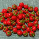 20 Tomatoes Tomato Vegetables Veggies Tiny Red Food Clay Fimo Miniature Dollhouse Jewelry Beads