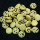 20 American Cookies Biscuits Round Cakes Tiny Food Clay Fimo Miniature Dollhouse Jewelry Beads