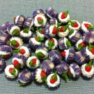 10 Cupcakes Cupcake Food Strawberry Cream Cakes Tiny Clay Fimo Miniature Dollhouse Jewelry Beads