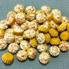 10 Cupcakes Cupcake Food Almond Cream Cakes Tiny Clay Fimo Miniature Dollhouse Jewelry Beads