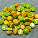 10 Cupcakes Cupcake Food Green Kiwi Fruits Cakes Tiny Clay Fimo Miniature Dollhouse Jewelry Beads