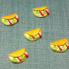 5 Crepes Crepe Food Strawberry Fruits Cakes Tiny Clay Fimo Miniature Dollhouse Jewelry Hand Made