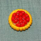 1 Tart Cake Pie Food Strawberry Fruits Pastry Tiny Clay Fimo Miniature Dollhouse Jewelry Hand Made