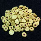 20 Biscuits Cookies Blueberry Fruits Cakes Tiny Food Clay Fimo Miniature Dollhouse Jewelry Beads