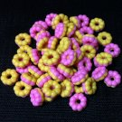 20 Donuts Cookies Pink Biscuit Food Cakes Tiny Food Clay Fimo Miniature Dollhouse Jewelry Beads