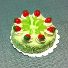 8 Slices Cake Food Strawberry Lemon Tiny Fruits Clay Fimo Miniature Dollhouse Jewelry Hand Made