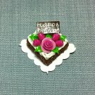 Birthday Valentine Cake Food Chocolate Roses Tiny Clay Fimo Miniature Dollhouse Jewelry Hand Made