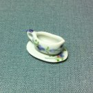 Gravy Sauce Boat Saucer Dish Ceramic Miniature Dollhouse Decoration Jewelry Hand Painted Supply