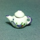 Tea Hot Coffee Pot Flowers Drinks Ceramic Miniature Dollhouse Decoration Jewelry Hand Painted