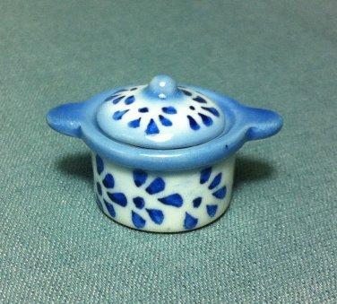 Soup Tureen Pot Flowers Dish Kitchen Ceramic Miniature Dollhouse Decoration Jewelry Hand Painted