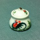 Soup Tureen Pot Jar Rooster Dish Kitchen Ceramic Miniature Dollhouse Decoration Jewelry Hand Painted