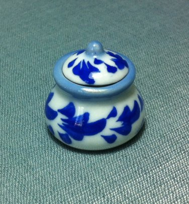 Soup Tureen Pot Jar Flowers Dish Kitchen Ceramic Miniature Dollhouse Decoration Jewelry Hand Painted