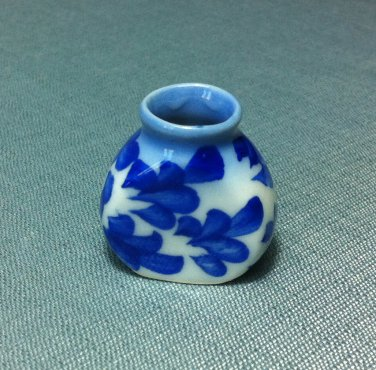 Plants Flowers Pot Jar Vase Display Tiny Ceramic Miniature Dollhouse Decoration Jewelry Hand Painted