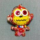 Funky Monkey Animal Orange Vintage Fabric Doll Funny Keyring Keychain Key Ring Key Chain Bag Car
