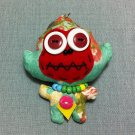 Funky Monkey Animal Green Vintage Fabric Doll Funny Keyring Keychain Key Ring Key Chain Bag Car