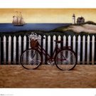 Cycle To The Beach by Lowell Herrero 8x6 Art Print Poster 229179