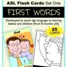 Sign Babies ASL Flash Cards Set 1 First Words