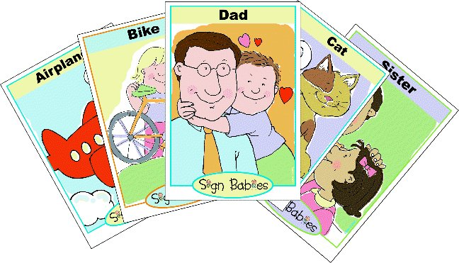 Sign Babies ASL Flash Cards Sets 1-4 4 Pack