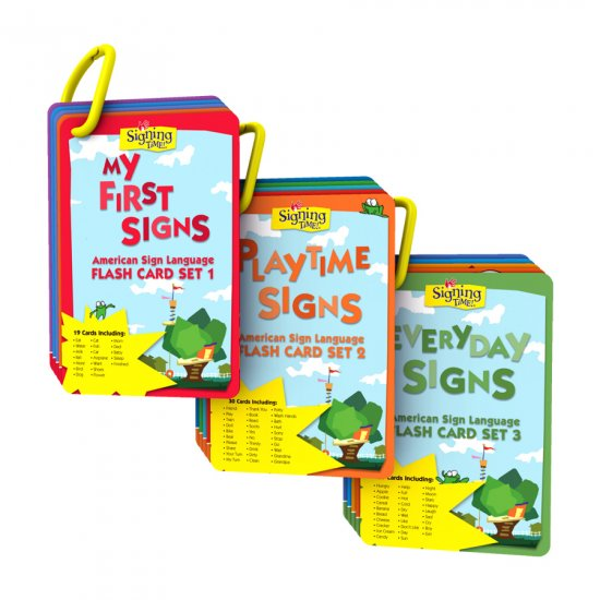 Signing Time! Flash Card Sets 1-3 Gift Set