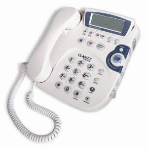 Clarity Professional C2210 50dB Amplified Phone w/Caller ID, Alarm Clock and Digital Clarity Power