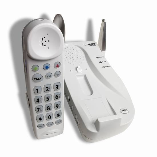 Clarity Professional C4105 40dB Amplified Cordless Phone featuring Digital Clarity Power