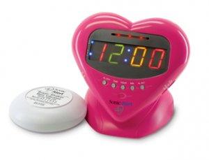"Sonic Boom ""Sweetheart"" Alarm Clock w/12V Bed Shaker"