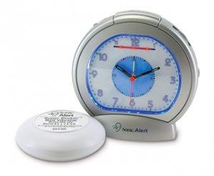Sonic Boom Analog Alarm Clock w/12V Bed Shaker