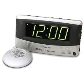 Sonic Boom Clock SBR350SS w/ AM/FM Radio and 12V Bed Shaker