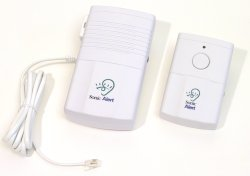 Sonic Alert Wireless Doorbell/Telephone Transmitter w/Button DB-200