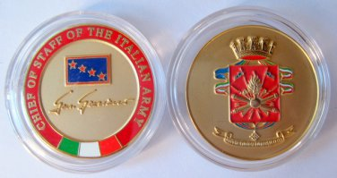 Army Chief Of Staff Challenge Coin Italy Military