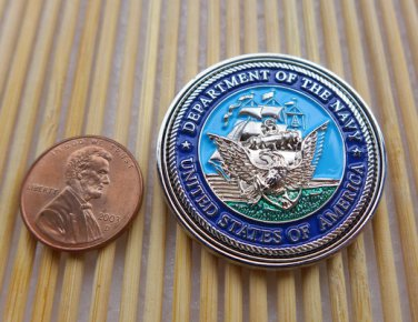 Challenge Coin Military Metal Plaque Department Of The Navy Eagle