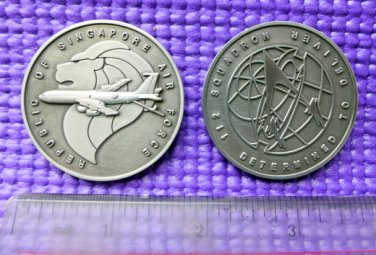 Challenge Coin Singapore Air Force Airplane Lion
