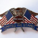 Harley Dealer Pins USA Flag Eagle United We Stand Patriotic 3D Pin