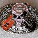 Harley davidson belt buckle 60th Anniversary Skull