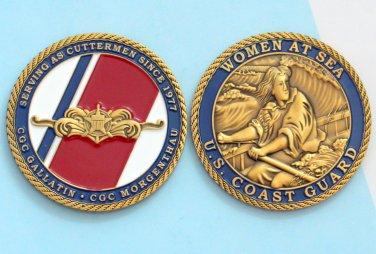 Challenge Coin CGC GALLATIN U.S. COAST GUARD WOMEN AT SEA