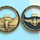 Challenge Coin Longhorn Search and Rescue Naval Air Station NAS FALLON SAR