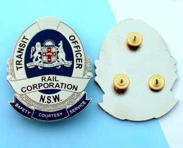 transit badge Railway security kangaroo 2 1/2 inch tall obsolete usa shipping