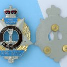 Australia Badge security PIPERS BAGPIPE pipe band badge 2 1/2 inch