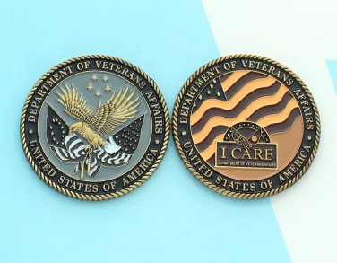 Challenge Coin Department Of Veterans Affairs USA Eagle
