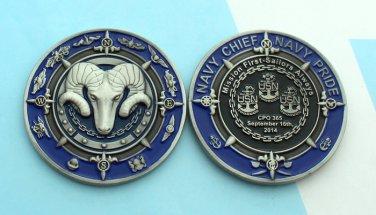 Underdog Challange Coin Us Navy Test Pilot Training School