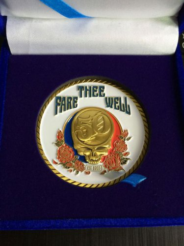 Grateful Dead Coin Fare Thee Well 50th Ann. Shows 2 Inch Native Indian