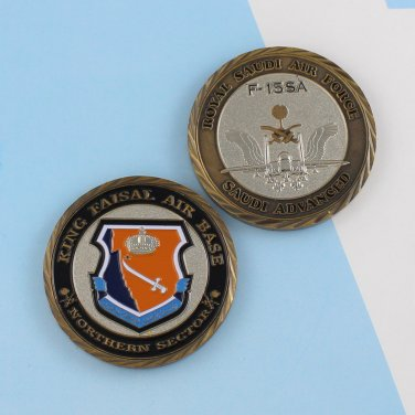 Challenge Coin royal saudi air force saudi arabia King Faisal F-15SA Eagle