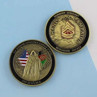 Challenge Coin 1st Marine Logistics Group Afgahanistan