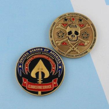 Challenge Coin Clandestine Services CIA