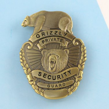Security Office Guard Badge Grizzly Private