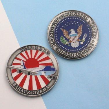 Challenge Coin Air Force One Barack Obama Japan Visit